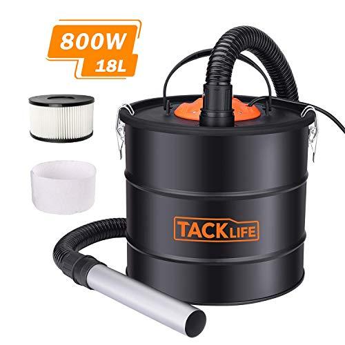 TACKLIFE Aspiracenere Elettrico, 800W Aspirazione e soffiaggio potenti con Una capacità Leggera di...