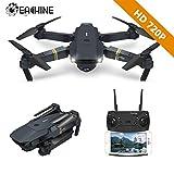 EACHINE Drone Plegable con HD Camara, E58 2.0mp 720p Drone Gran Angular Drone WiFi FPV App Juguete...