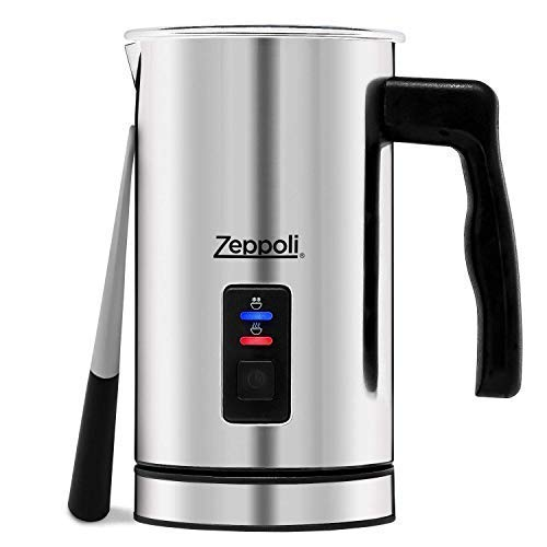 Zeppoli Milk Frother and Warmer - Automatic Milk Heater, Electric Milk Steamer and Milk Foamer | Great as a Latte Frother and Cappuccino Maker for Coffee and Hot Chocolate - Comes With a Silicone Scra