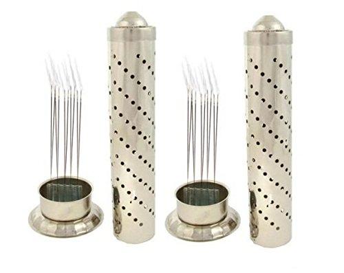 Fashion Bizz 2 Pcs Steel Agarbatti Stands (Steel,Regular)