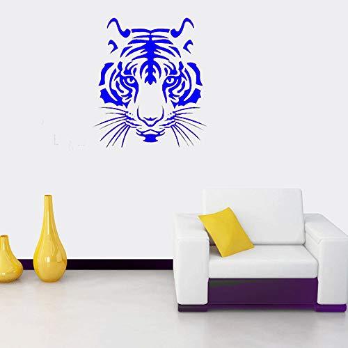 zqyjhkou Tigre Testa personalità creatività Arte Murales Decorazione della Stanza Vinile Soggiorno...