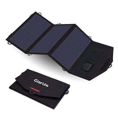 GIARIDE 12V 18V 21W Cargador Panel Solar Sunpower Baterías de Coche Plegable Placa Solar Portátil (18V DC, 5V USB Salida) para Tablets Móviles iPhone Galaxy Coche Botes Motos Caravanas