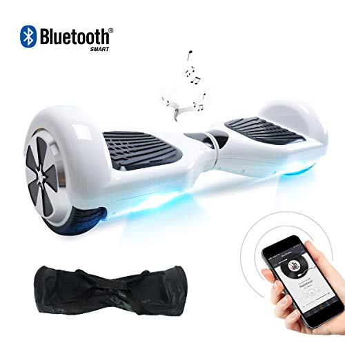 BEBK Hoverboard 6.5' Smart Self Balance Scooter con Bluetooth, Overboard con LED Autobilanciato...