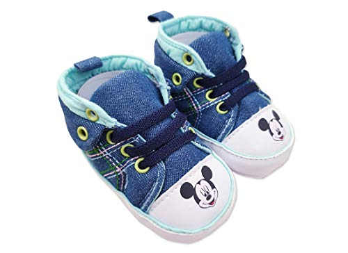 Scarpine Neonato Topolino Mickey Mouse Sneakers Jeans W4 2009 (18 (12-18 Mesi))