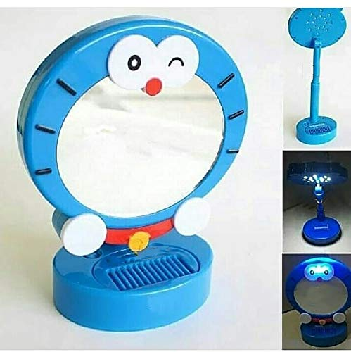 Fully New Arrival Adjustable Stand Led Lamp With Mirror For Kids Study Room Bedroom And Drawing Room Home Accessories Blue 40 Gram Pack Of 1