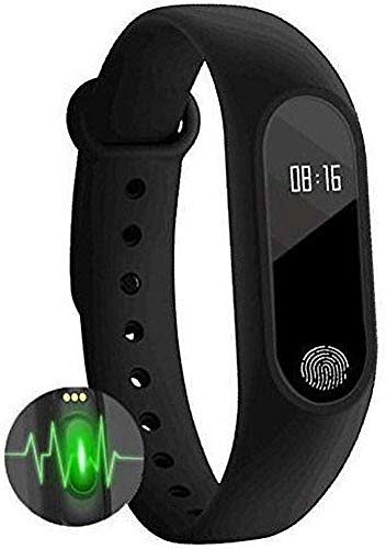 Tygot M2 Bluetooth Smart Band with Fitness Tracker, Heart Rate Sensor and Compatible with All Devices (Black)