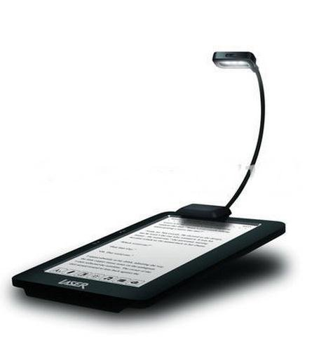ProElite Adjustable Flexible LED Light for Kindle and Book Reading with Batteries and 2 Level of Light (Black)