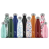 Chilly\s Bottles   Leak-Proof, No Sweating   BPA-Free Stainless Steel   Reusable Water Bottle   Double Walled Vacuum Insulated   Keeps Drinks Cold for 24+ Hrs, Hot for 12 Hrs   Silver, 500ml