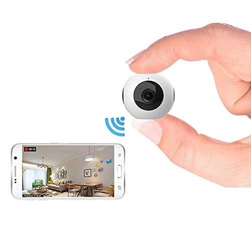 WJS Telecamera IP Mini Full HD 1080P WiFi Telecamera Doppia Obiettivo Telecamera segreta Telecomando Wireless Rilevatore di Movimento Telecamera Micro Spia Mini DVR