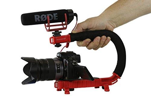 Cam Caddie Scorpion EX videocamera stabilizzatore manico per Nikon, Canon, JVC, Toshiba, Sony, Olympus, Pentax, Apple iPhone, Gopro Hero 4, Hero 3+, Hero 3e più