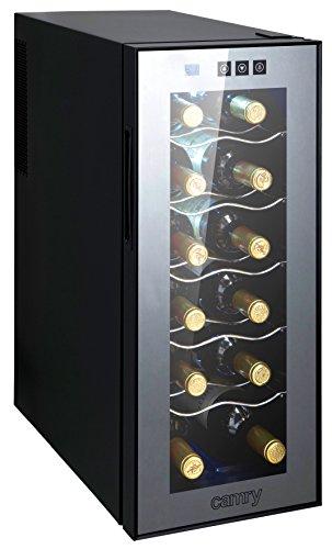 CAMRY CR8068 - Frigorifero per Vino, 12 Bottiglie, 1 cm, Basso consumo energetico