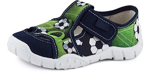 Ladeheid Pantofole a Strappo Bambino LAVI0006 (Verde/Palla, 26)