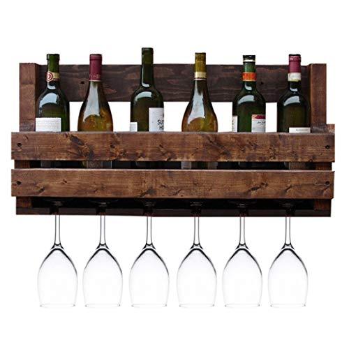 TangMengYun Cantinetta da Vino Vintage in Legno da Parete con Cornice in Legno da Bar Ristorante...