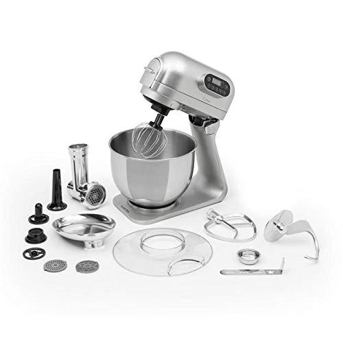 Klarstein Curve Plus - Set Robot da Cucina, Tritacarne 4 in 1, Capacità 5 L, 5 Livelli di...