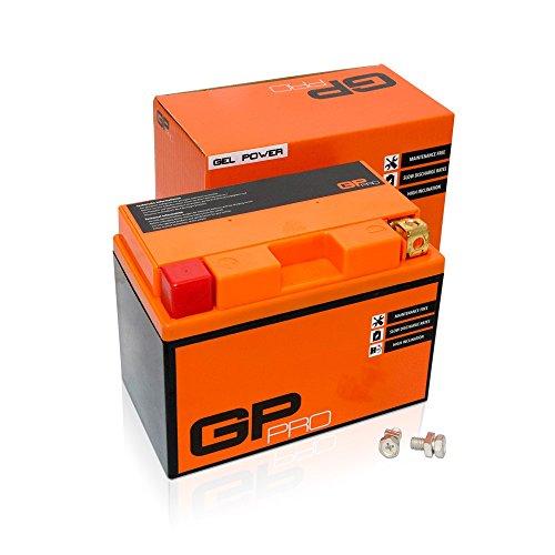 GP-PRO GTZ12S 12V 11Ah GEL-Batterie (Ähnlich YTZ12S / YTZ14S) (Wartungsfrei & Versiegelt) Akkumulator Motorrad Motorradbatterie für u.a. Honda