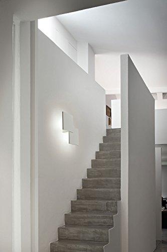 Studio Italia lampada da parete Puzzle Bianco Opaco Realizzato a mano, Made in Italy