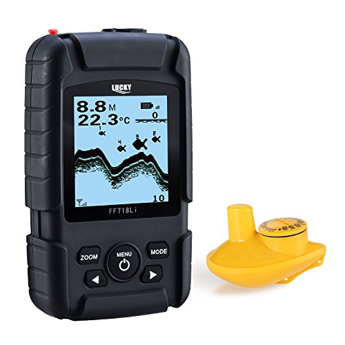LUCKY Ecoscandaglio Da Pesca vera Fish Finder monitor wireless sonar Fish Finder sonar pesce sonar