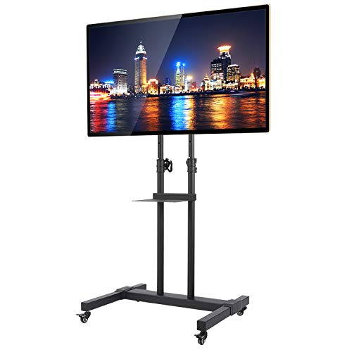 RFIVER Carrello Mobile da Pavimento Porta TV con Ruote Supporto TV per 32 a 70 pollici LCD LED...