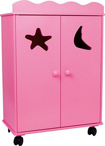 2880 Armadio per bambole Pink small foot / mobili per bambole in legno, può essere fatto scorrere...