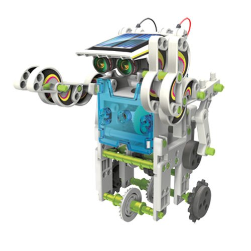 41li3QiJ31L - itsImagical 14X1 Eco-Robot - Kit para construir robots solares, unisex