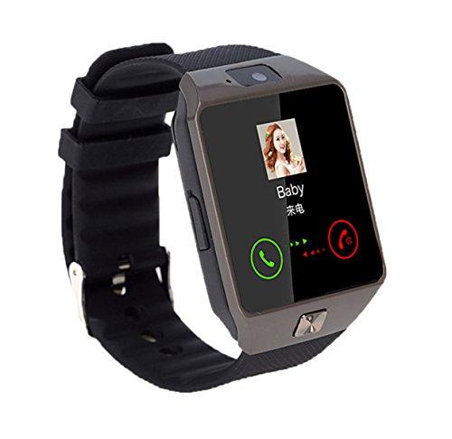 DFIHCD Smart Karte Uhr Männlich Student Multifunktional Wasserdicht Anruf Ring Kinder Sport Elektronische Uhr,Black