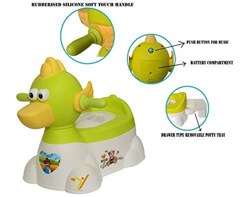 La Corsa KE-8 Duck Type Baby Potty Seat with Music (Green)