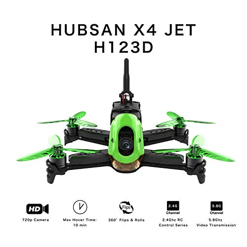 Hubsan H123D X4 Jet Racer Brushless Droni 720P Fotocamera 5.8 GHz FPV 2.4 GHz RC Quadricottero con Trasmettitore HT012D