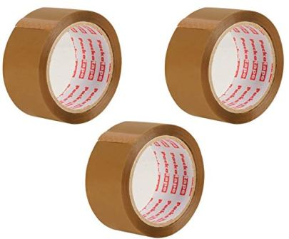 Packatape-Paketklebeband-braun-66m-lang-48mm-breit-Ideal-als-Klebeband-Paketband-Verpackungsmaterial-Packband-3-Rollen
