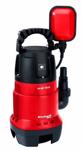 Einhell GH-DP 7835 - Bomba sumergible aguas sucias (780 vatios, máx. 15,700 l / h, cabeza máxima de 8 m, cuerpos extraños hasta 35 mm, interruptor de flotador continuo) (ref. 4170682) [Clase de eficiencia energética A]