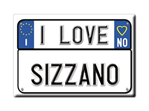 Enjoymagnets SIZZANO CALAMITA Magnete Piemonte (No) Italia Fridge Magnet Souvenir I Love (VAR. Targa)