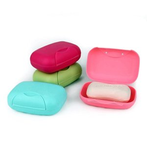Zollyss 4 Colors Travel Handmade soap Box soap case Dishes Waterproof Leakproof soap Box with Lock Box Cover- Set of 2 Pcs 11  Zollyss 4 Colors Travel Handmade soap Box soap case Dishes Waterproof Leakproof soap Box with Lock Box Cover- Set of 2 Pcs 41lpock0OiL