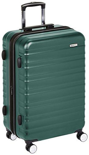 AmazonBasics - Trolley rigido Premium con rotelle pivotanti e lucchetto TSA integrato - 68 cm, Verde
