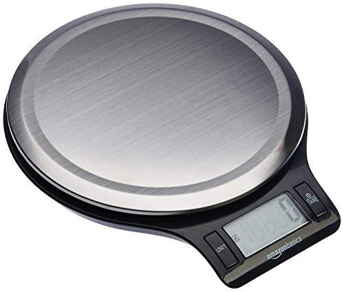 AmazonBasics - Bilancia digitale da cucina con display LCD, in acciaio inox, priva di bisfenolo A...