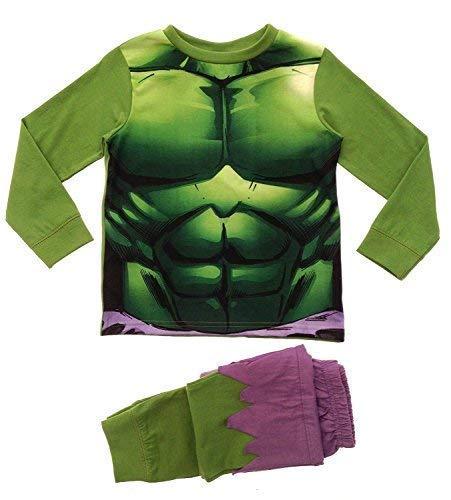 Lora Dora - Pigiama due pezzi - Maniche lunghe - ragazzo Verde Incredible Hulk Novelty PJ's