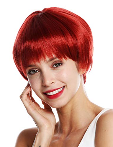 WIG ME UP ® - VK-53-135 Parrucca donna Corta Liscia Page Pageboy haircut Rosso Rosso ramato