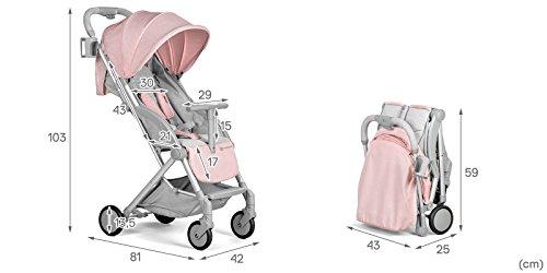 Kind Kraft pilota leichter Passeggini Buggy bambini passeggino pieghevole (rosa)
