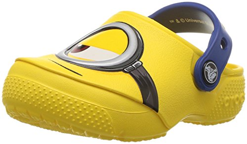 Crocs Funlab Minions Clog K, Zoccoli Unisex-Bambini, Giallo (Yellow), 24/25 EU