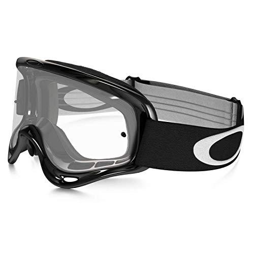 Oakley-Maschera da Cross Modello 'O-Frame Jet' a Schermo Trasparente, Colore: Nero