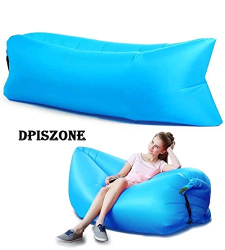 DPISZONE Outdoor Inflatable Hangout Portable Bag Lounger Polyester Fabric Suitable For Camping Beach Couch Inflatable Lazy Sofa Nylon Fast Inflatable Portable Hangout Lazy Air Bag Sofa Bed(Multicolour)