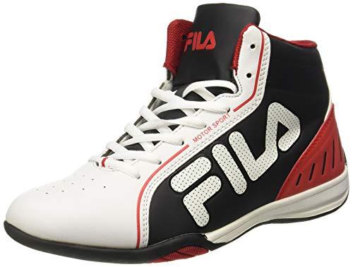 Fila Men's Isonzo II Wht, Blk and Rd Sneakers - 8 UK/India (42 EU)(11004529)