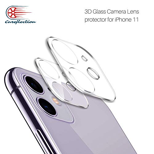 Careflection Premium 3D Tempered Glass Camera Protector for iPhone 11 Camera Protector, Bubble Free Tempered Glass Protection Film