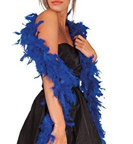 Boland - Boa de pluma para disfraz, 180 cm, color azul cobalto (52793)