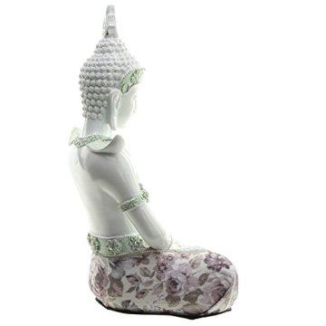 Decorativo floral iluminación-Figura decorativa de Buda, altura: 26cm, ancho: 18cm), profundidad 14cm 6