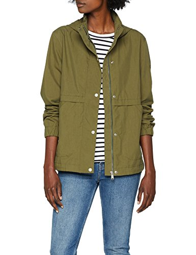Tommy Jeans Donna Short Hooded Parka Parka Maniche lunghe  Verde (Military Olive 393) Medium