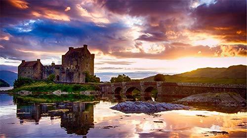 HCYEFG Puzzle Eilean Donan Castle Scozia per Camera da Letto per Adulti Decorazione Camera da Letto...