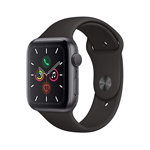 Apple Watch Series 5 (GPS, 44mm) Cassa in Alluminio, Grigio Siderale e Cinturino Sport - Nero