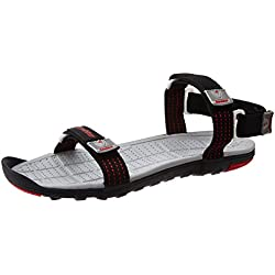 b60d307d3f4d Lotto Men s Lotto Sports Sandals Black and Red Sandals and Floaters - 7 UK  India