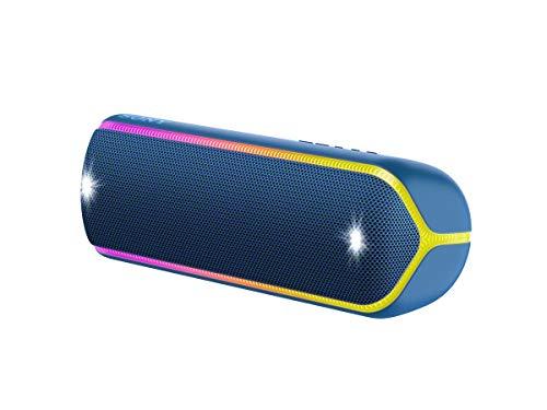 Sony SRS-XB32 Speaker Compatto, Portatile, Resistente all'Acqua con EXTRA BASS e Luci, Blu