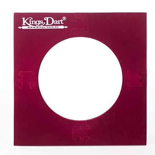 Kings Dart Backboard Surround für Dartscheiben mit 45 cm, 70x70 cm, Rot