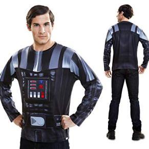 Disfraz Camiseta de Star Wars Darth Vader Original de Carnaval para Hombre L Microfibra - LOLAhome